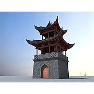 中国古建筑塔楼3D模型3d模型
