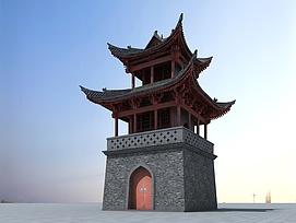 中国<font class='myIsRed'>古建筑</font>塔楼3d模型