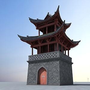 3d中國<font class='myIsRed'>古建筑</font>塔樓模型