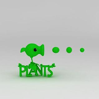 植物大战僵尸豌豆射手3d模型3d模型