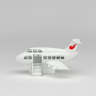 儿童玩具大客机3d模型