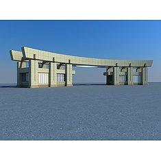 学校门头3D模型3d模型