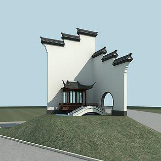 门牌建筑物3d模型