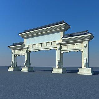 石雕牌坊3d模型