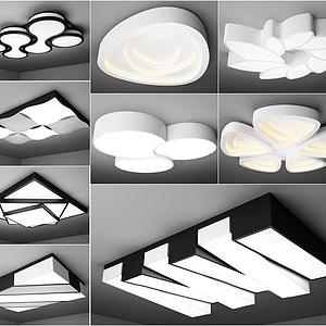 现代艺术吸顶灯模型