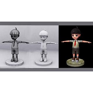 人物动画3d模型