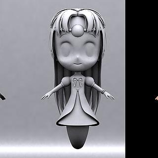 小女孩<font class='myIsRed'>人物</font>动画3d模型