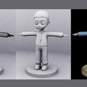 小男孩人物动画模型