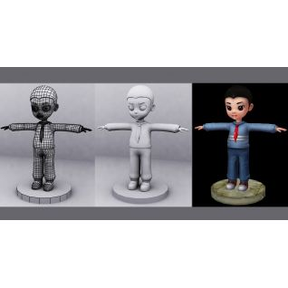 小男孩人物动画3d模型