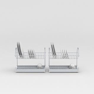 厨房烤漆置物架3d模型