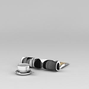 3d咖啡杯与<font class='myIsRed'>杂志</font>模型
