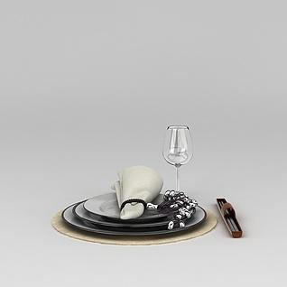 西餐餐具3d模型