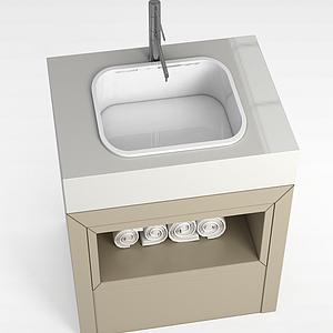 浴室洗手台模型