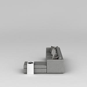 3d时尚灰色<font class='myIsRed'>转角沙发</font>模型