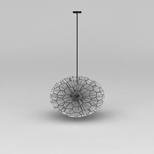 正六边形球形玻璃吊灯3d模型