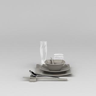 碗碟餐具3d模型