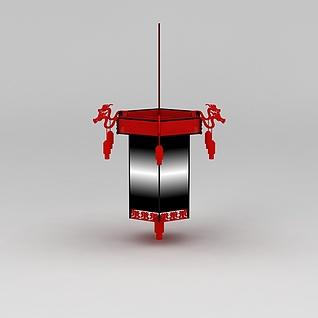 中式古典灯笼3d模型