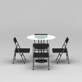 户外休闲桌椅3d模型