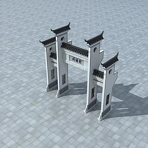 3d中国古代<font class='myIsRed'>牌坊</font>模型