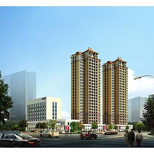 小区住宅楼3d模型