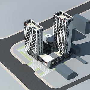 公寓樓模型3d模型
