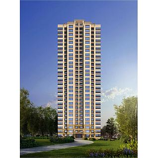 保利住宅楼3d模型