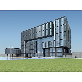 小型办公楼3d模型