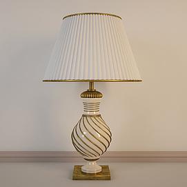 欧式复古全铜台灯模型