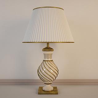 欧式复古全铜台灯3d模型