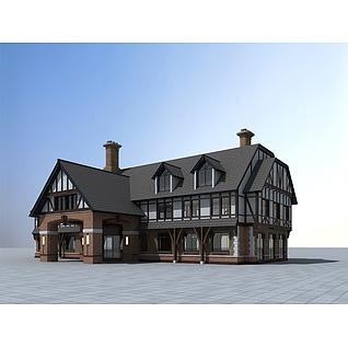 欧式民居建筑3d模型