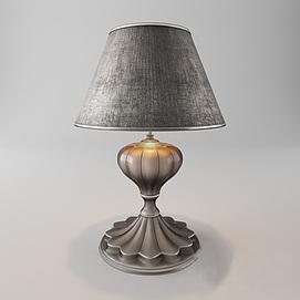 简欧精致复古台灯模型