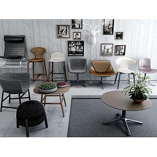 现代时尚休闲椅3d模型