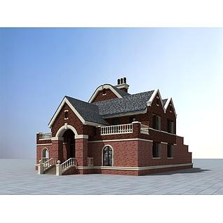 现代欧式别墅3d模型