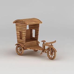 竹条三轮车3d模型