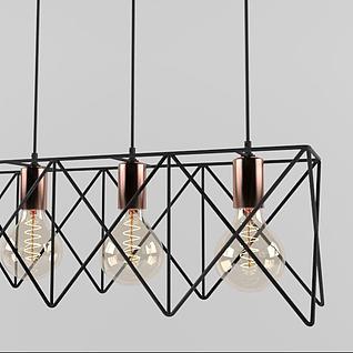 时尚工业风艺术吊灯3d模型