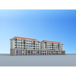 沿街住宅3d模型3d模型