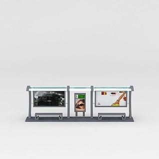 公交站台3d模型