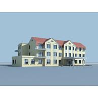 欧式3层小楼3D模型3d模型