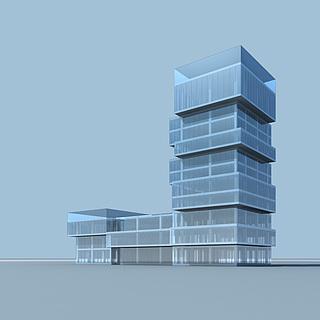 玻璃办公楼3d模型