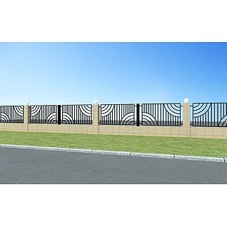 铁艺围栏3d模型