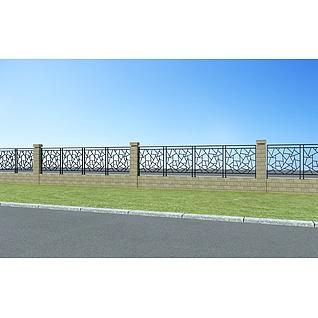 庭院围栏3d模型