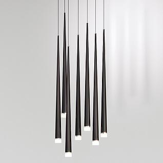 LED流星吊灯3d模型