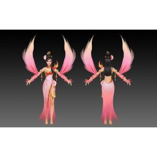 游戏角色美女3d模型3d模型