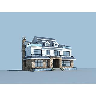 现代时尚别墅3d模型3d模型