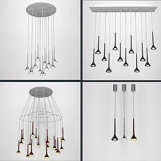 现代精美餐厅吊灯3d模型