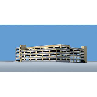立体停车场3d模型3d模型