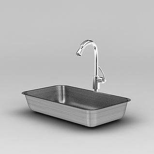 厨房水槽3d模型