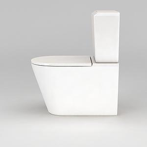 白色简约马桶模型