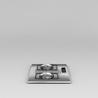 家用燃气灶3d模型
