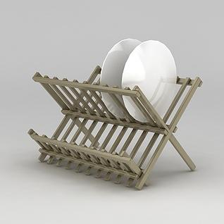 厨房沥水碗碟架3d模型